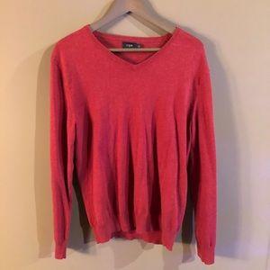 J. CREW - Red V-Neck sweater size Medium M